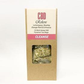 CBD Relieve - Premium Hemp Rich CBD Tea - CLEANSE